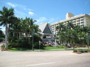 Entrance of Marco Island Marriott Beach Resort Golf Club & Spa
