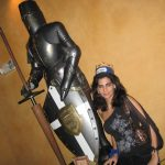 Me next to the medieval knight