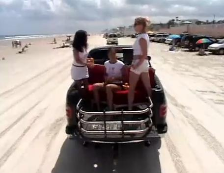 Driving On The Daytona Beach Video