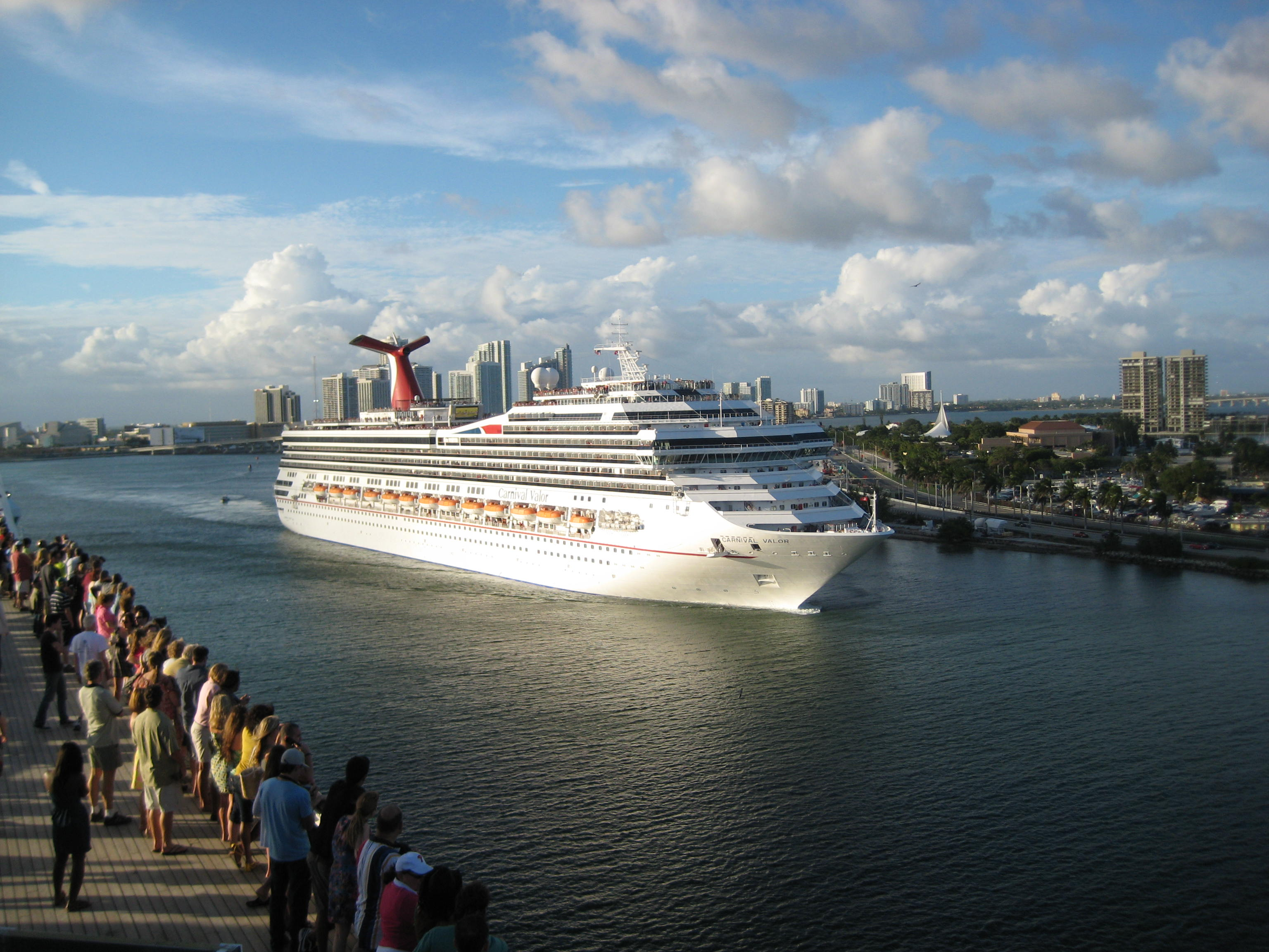 Carnival Glory Leaving Miami
