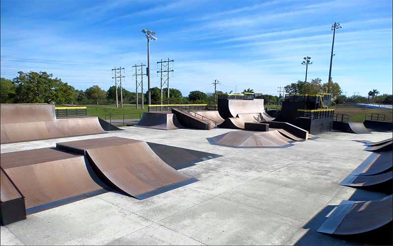 Bicycle And Skateboard At Brian Piccolo Park, Florida